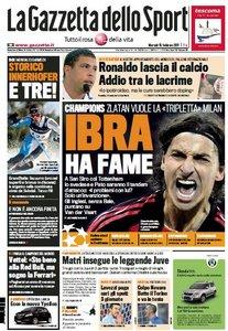 La Gazzetta Dello Sport du Mardi 15 février 2011